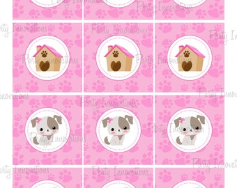 Printable Puppy Cupcake Toppers