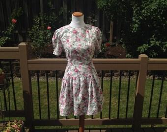SALE Mini Floral Party Dress // 8 // 10 // 90's
