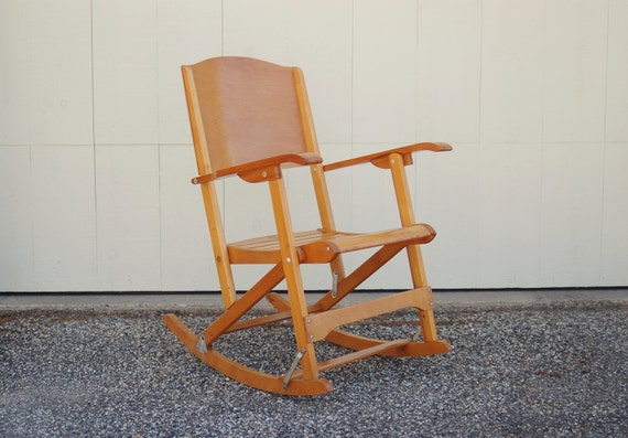 Rocking Chair, Clement Canada Maple Rocking Chair, Folding Wood Chair ...