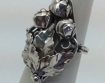 Sterling Silver Rose Bud ring.