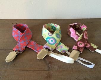 Pick 1 - Floral Pacifier Clips
