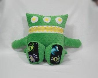 Monster Pajama Eater/ Cuddle Dot Minky/ Monster Aliens/ Pajama Keeper/ Pajama Bag/ Pillow Friend/ Secret Keeper/ Stuffed Toy/ Childrens Gift