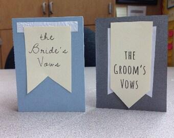 Wedding Vow Booklet