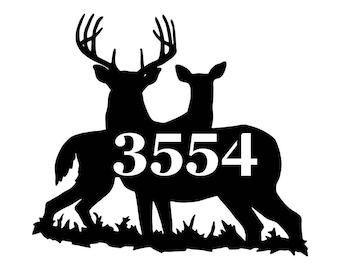 Deer Sign - Custom deer sign - metal deer sign