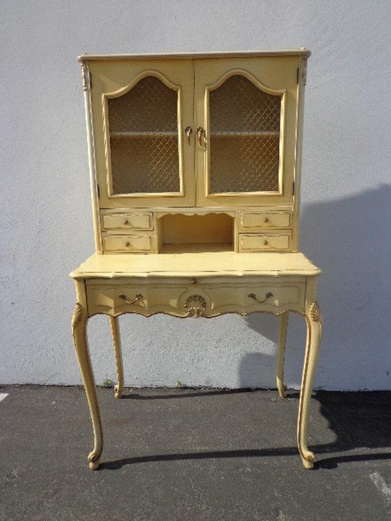 French Provincial Queen Anne Secretary Writing Desk Regency