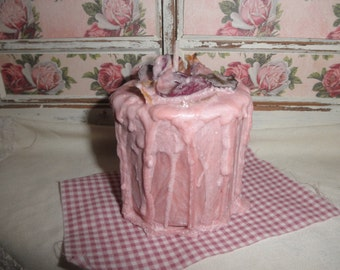YOU CHOOSE the Scent....Shabby Chic Pillar Candle