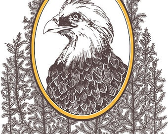 A4 Print: Friday night eagle