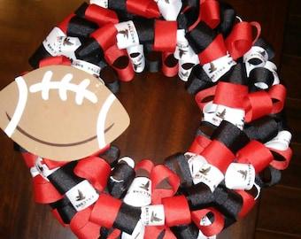 Atlanta Falcon Ribbon Wreath
