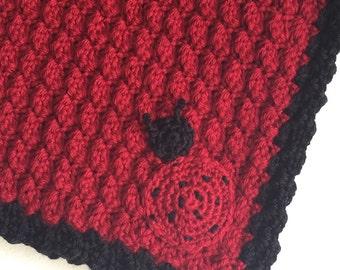 Ladybug Crochet Baby Blanket
