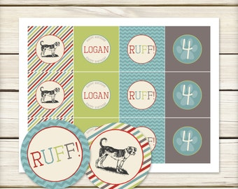 Dog Party // Vintage Dog Party // Dog Party Toppers // Vintage Dog Theme Birthday // DIY Printables