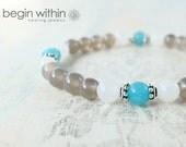 Find Balance Agate Bracelet / Gemstone Bracelet / Crystal Healing Bracelet / Spiritual Jewelry with Optional Charm