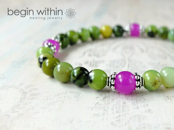 Oneness Bracelet / Chrysoprase Bracelet / Yoga Bracelet / Crystal Healing Bracelet