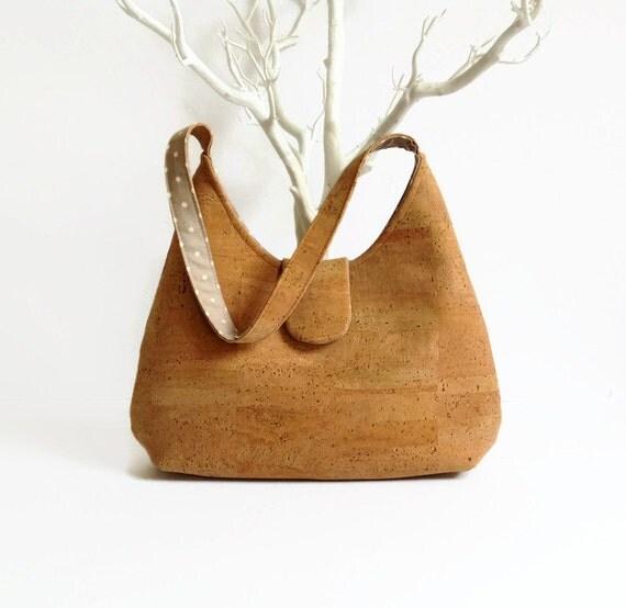 Cork Handbags: Natural Cork Handmade Bag / Eco Friendly Handbag / Gift Idea