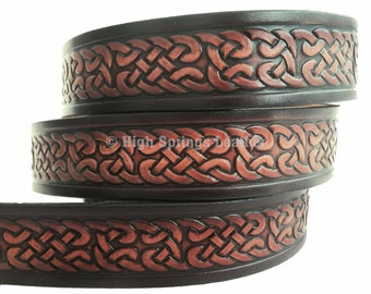 Irish Celtic Knot Leather Name Belt