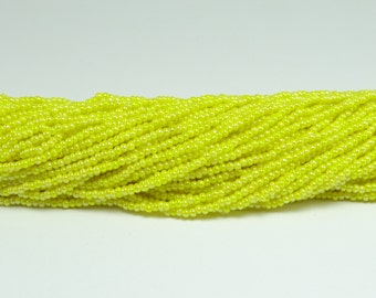 Czech Seed Beads, IRIS, Yellow, Size 11/0