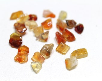 Genuine Carnelian Nuggets Assorted Size Approx. 7mm 24pcs