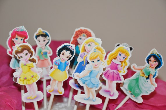 Disney Princess Toddler Baby Cupcake Toppers Cake Toppers Set