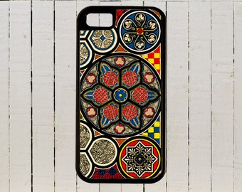Colorful Intricate Medieval Stained Glass Church Window iPhone Case 4, 4s, 5, 5C, 6, 6+ and Samsung Galaxy 3, 4, 5, 6, Edge