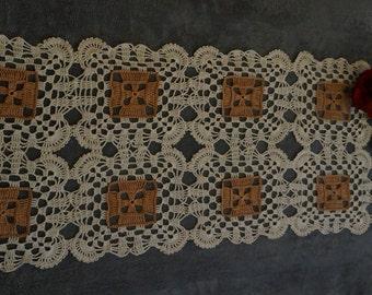 Crochet table runner, doily runner, handmade table runner, long table runner