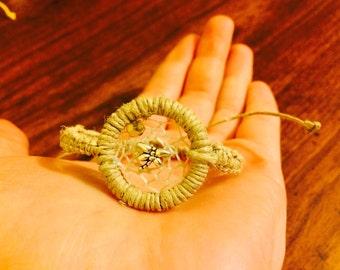 Natural Macrame Hemp Dragonfly Dream Catcher Hemp Bracelet, Adjustable, Hemp Bracelet, Hemp Cords, Hemp Jewelry