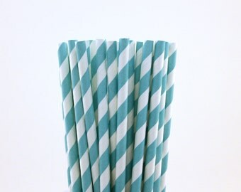 Aqua Blue Paper Straws-Robins Egg Blue Straws-Wedding Straws-Under the Sea Straws-Party Straws-Mason Jar Straws-Cake Pop Sticks-Shower Straw