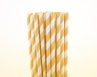 Blush and Tan Striped Straws-Blush Straws-Striped Straws-Ice Cream Party Straws-Summer Straws-Bridal Shower Straws-Tea Party Straws