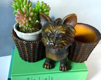 Mid Century Dog Planter, Container