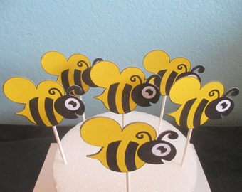 Bumble bee cupcake toppers,Bumble bee toppers,Cupcake toppers,Bumble Bee,Mommy to Be,What Will It Bee,Bee Baby Shower,Bee Toppers,Bee Picks