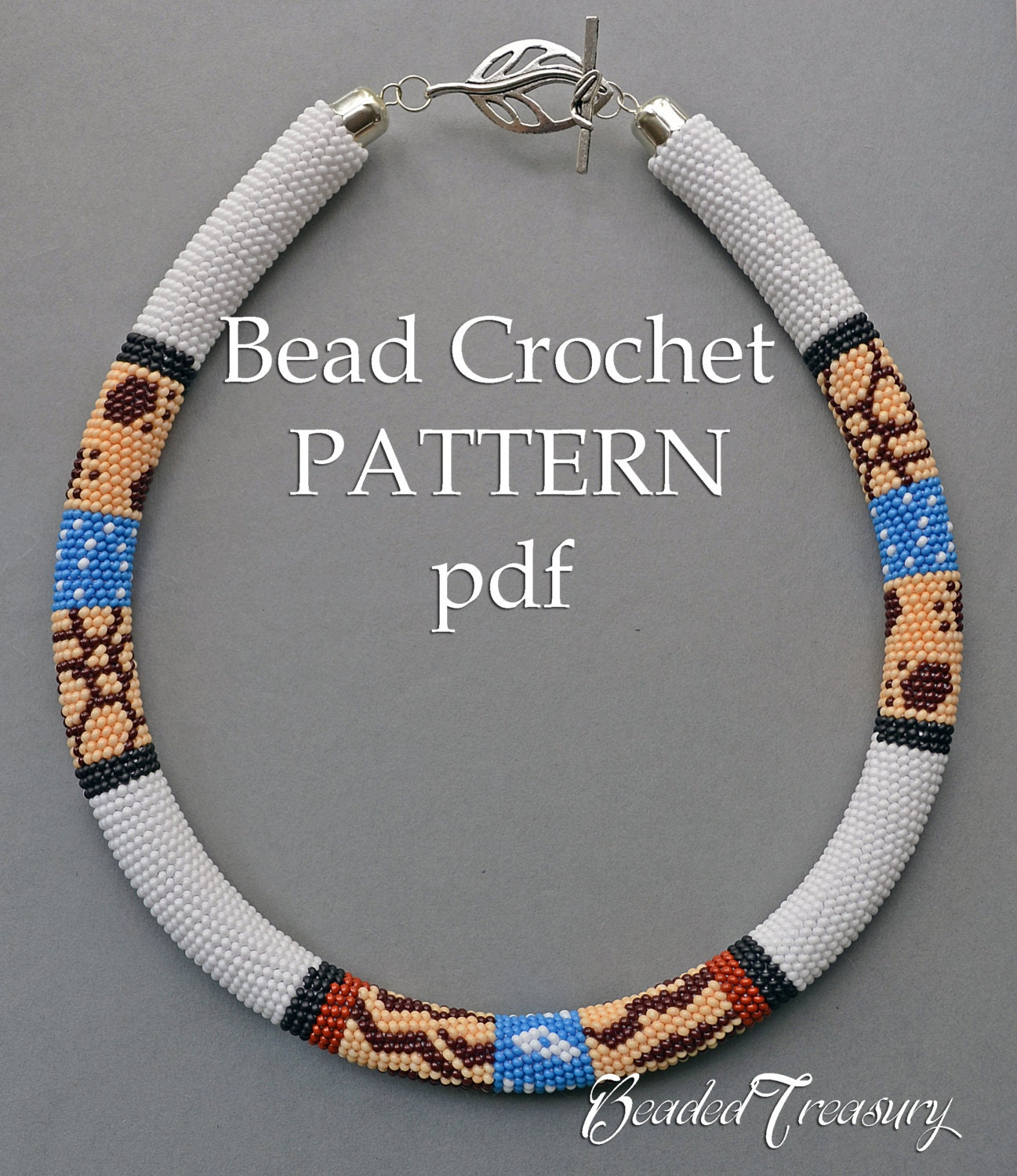 Safari bead crochet pattern seed bead necklace pattern beaded this is a digital file bankloansurffo Image collections