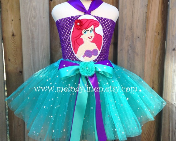 Little Mermaid Ariel Tutu Dress available via Melodylinen