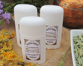 Patchouli/ Natural Vegetable Protein Deodorant/ Aluminum Free/ with Chamomile