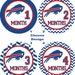 Baby Month Sticker, Baby Monthly Sticker, Baby Milestone Sticker, Buffalo Bills, Chevron, NFL, National Football League
