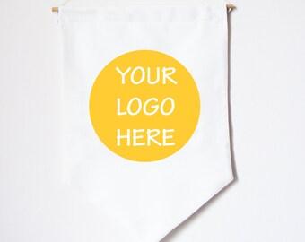 CUSTOM LOGO fabric Wall Banner. Your logo fabric wall banner.  Wall hanging custom brand banner. .