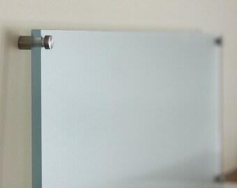 Dry erase floating memo board