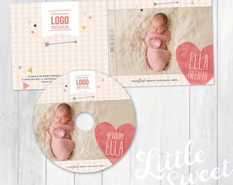 Cd DVD Disc Label - Photoshop Template for Photographers - (CDDVD01) - Instant DOWNLOAD