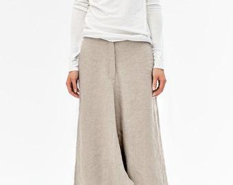 Beige Linen Pants/ Extravagant Drop Crotch Beige Pants/ Loose Linen Trousers/ Stylish Harem Pants by AryaSense / PLN14BE