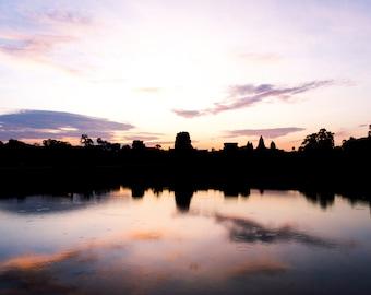 "Travel Photography, Landscape Photography, Tropical, Cambodia, Angkor Wat, Southeast Asia, Exotic, Wanderlust - ""Angkor Wat Sunrise"""
