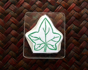 Ivy Leaf, Rubber Stamp, Hand Carved Hand Made Stamp, Scrapbooking, Card Making, Gift Wrapping