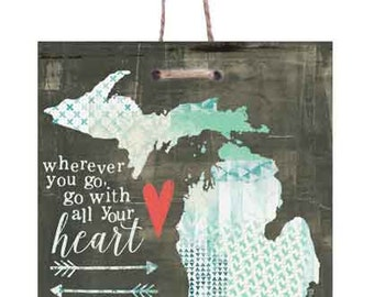 Wherever You Go, Go With All Your Heart Art Print on Wood