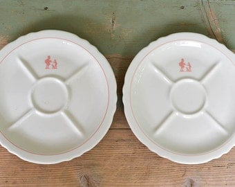 Vintage Howard Johnson Pieman Plates Divided Restaurantware Shenango Plates