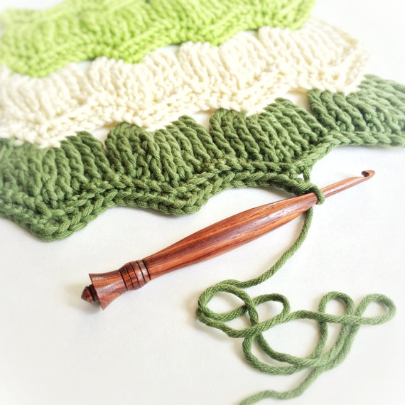 Crochet Hooks Ireland : mm IRELAND Premade Wood Crochet Hook, Ergonomic, Exotic Wood ...