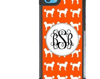 iPhone 5 5s 6 6s 6+ 6s+ SE 7 7+ iPod Touch 5 6 Phone Case, Orange Labradoodle Design, Monogram, Dog, Puppy, Initials, Letters, Plus