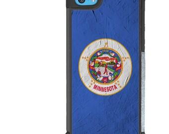 iPhone 5 5s 6 6s 6+ 6s+ SE 7 7+ iPod 5 6 Phone Case, Minnesota Flag Design, MN State Flag USA, United States, Plus