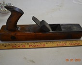 "Antique Primitive Wood Plane 14"" long"