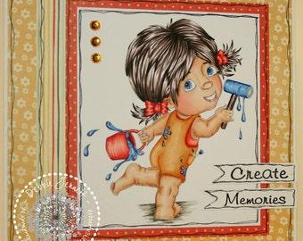 Daddys Little Helper Digital Stamp