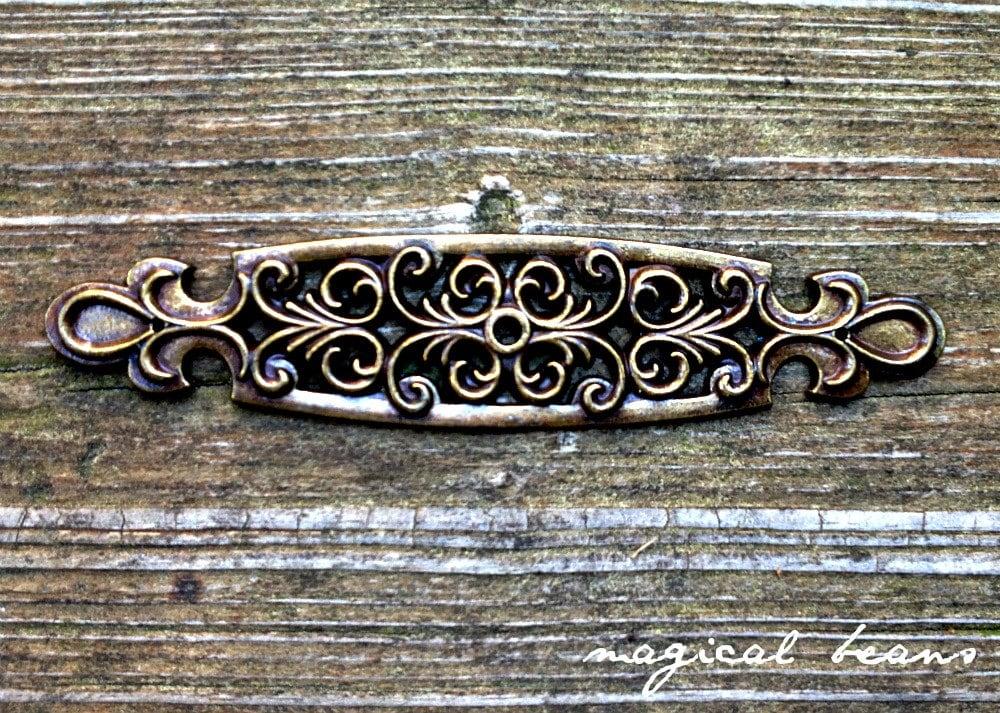 Bronze backplate decorative brass drawer pulls backplate restoration dresser hardware drawer - Dresser drawer pulls with backplate ...