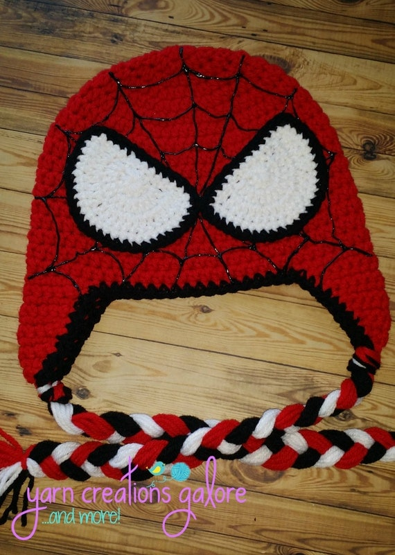 Free Crochet Patterns For Spiderman Hats Manet For