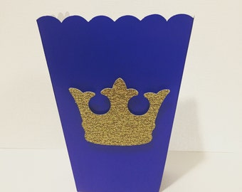 5 small prince  themed favor/ popcorn boxes