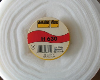 Half Metre Vlieseline® Vilene® Iron on Fusible Volume Fleece Stabiliser Interfacing  Wadding H630 - Pellon