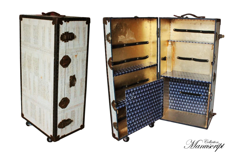 Antico baule vintage in legno armadio cabina arredo esclusivo - Mobile porta liquori ...